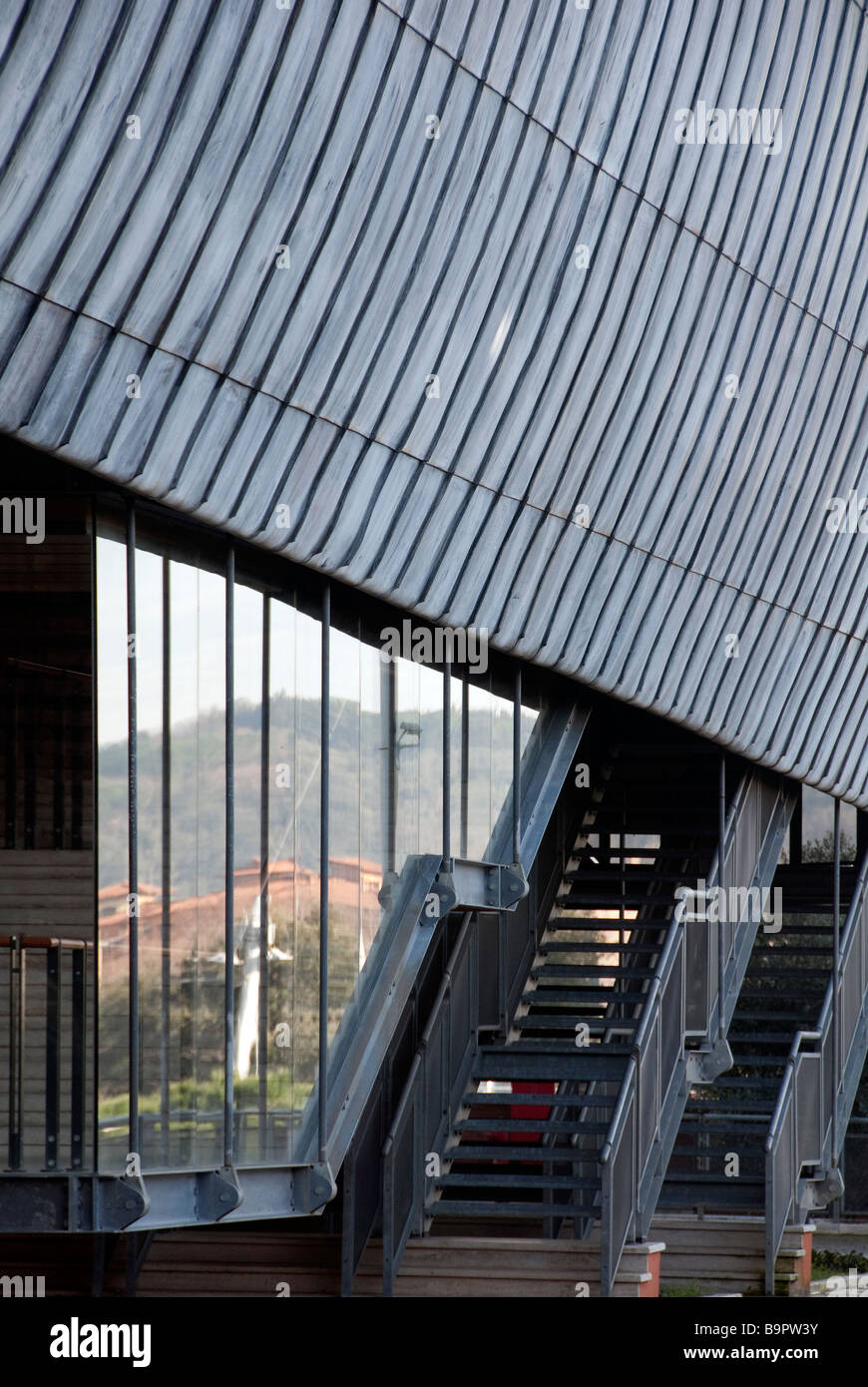 The shells of the new Auditorium Rome designed by leading Italian architect Renzo Piano Stock Photo