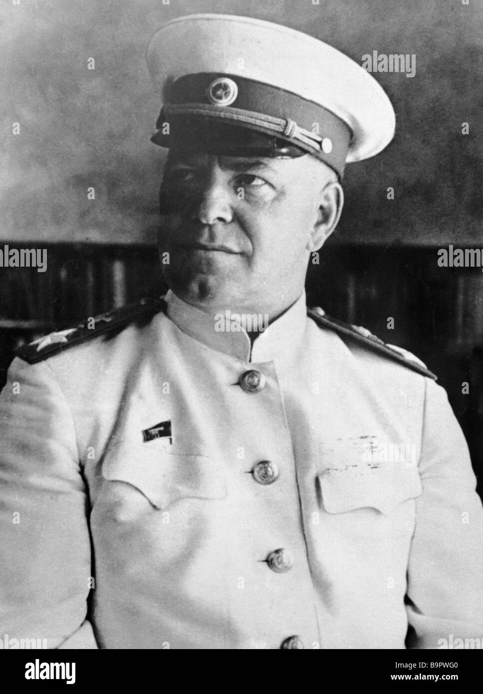 Marshal of the Soviet Union Georgy Zhukov represented his great motherland at the Potsdam conference - Stock Image