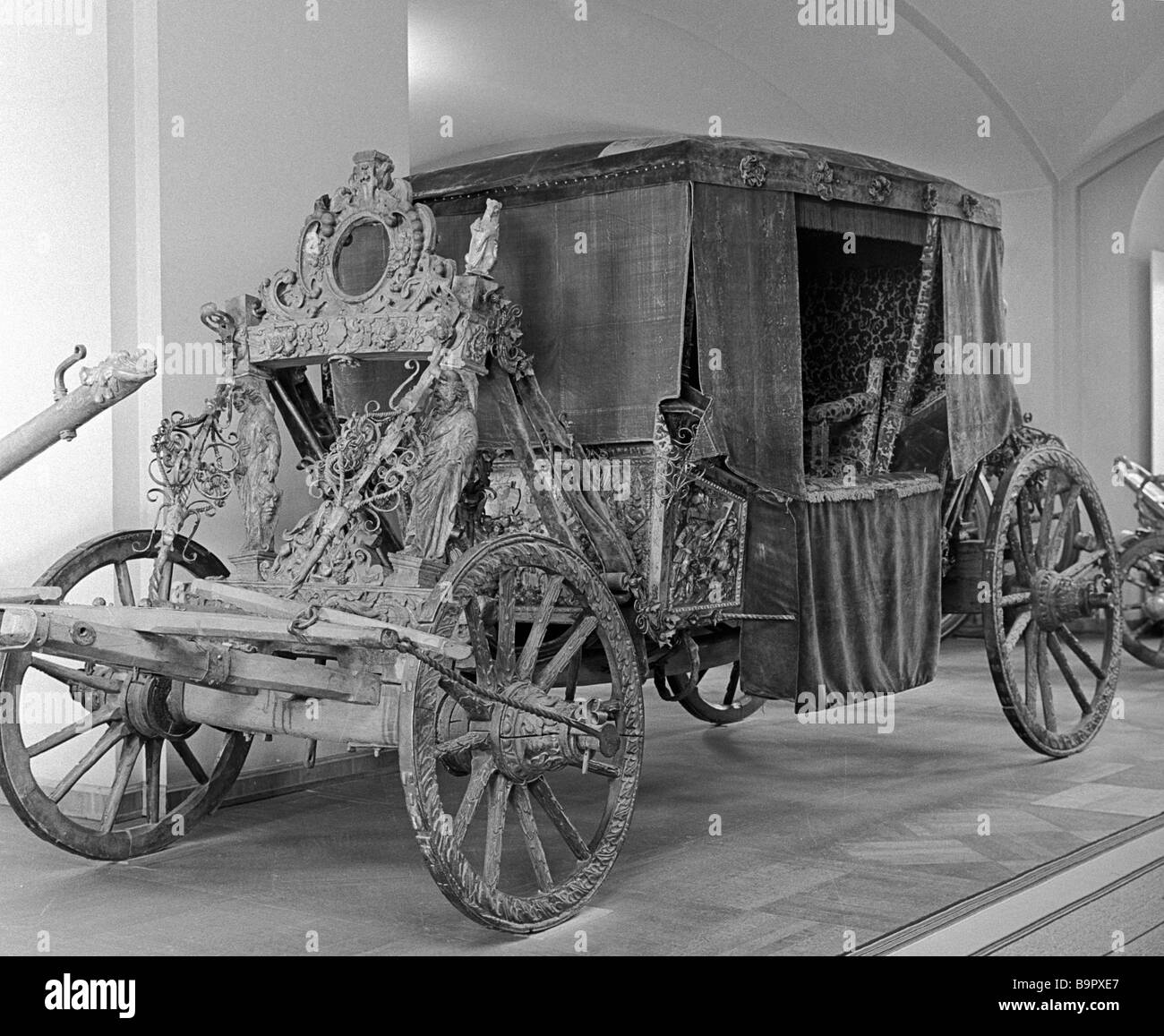 A coach made in England The present for Russian Tsar Boris Godunov from Britain s Queen Elizabeth End of the 16th - Stock Image