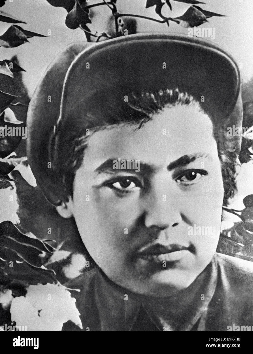 Tadjikhon Shadiyeva was one of the first women in Soviet Central Asia to dare take off the yashmak - Stock Image