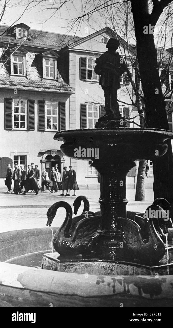Friederich von Schiller s house museum in Weimar - Stock Image