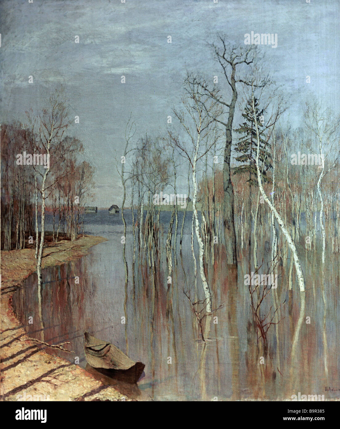 Picture Levitan Spring. High water or Edge, reminiscent of paradise 50