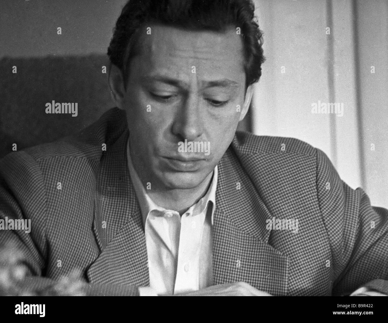 People s Artist of the RSFSR Oleg Yefremov - Stock Image