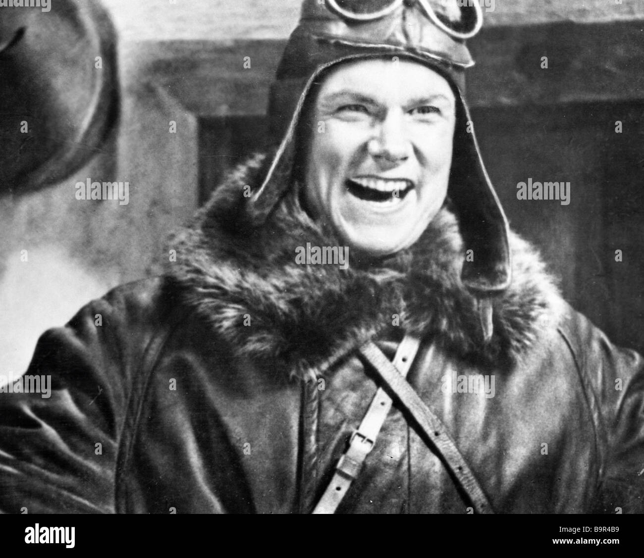 Sergei Stolyarov starring in Alexander Dovzhenko s movie Aerograd - Stock Image
