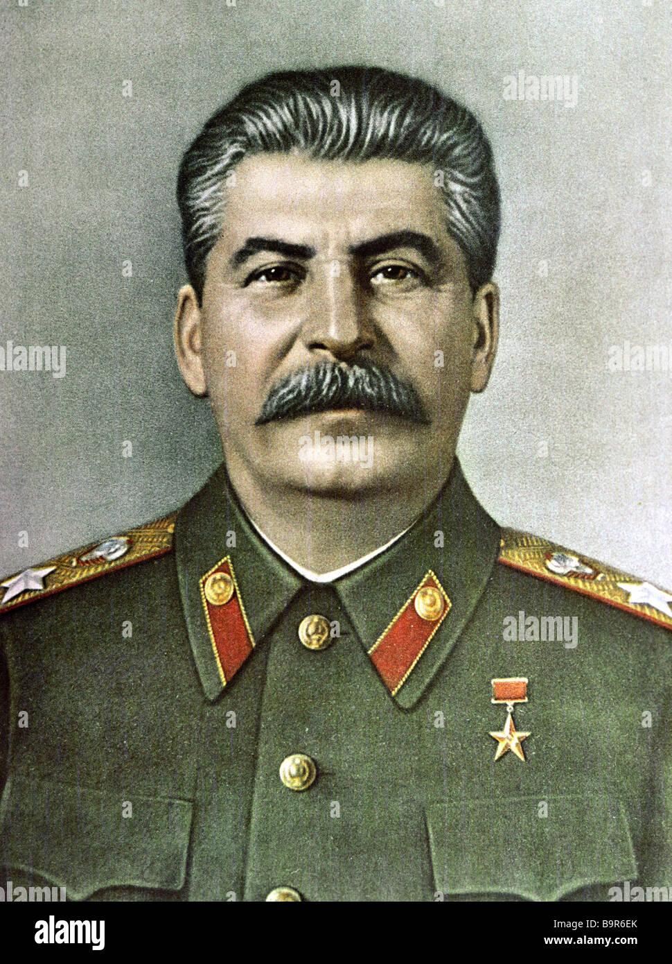 Joseph Stalin 1879 1953 - Stock Image