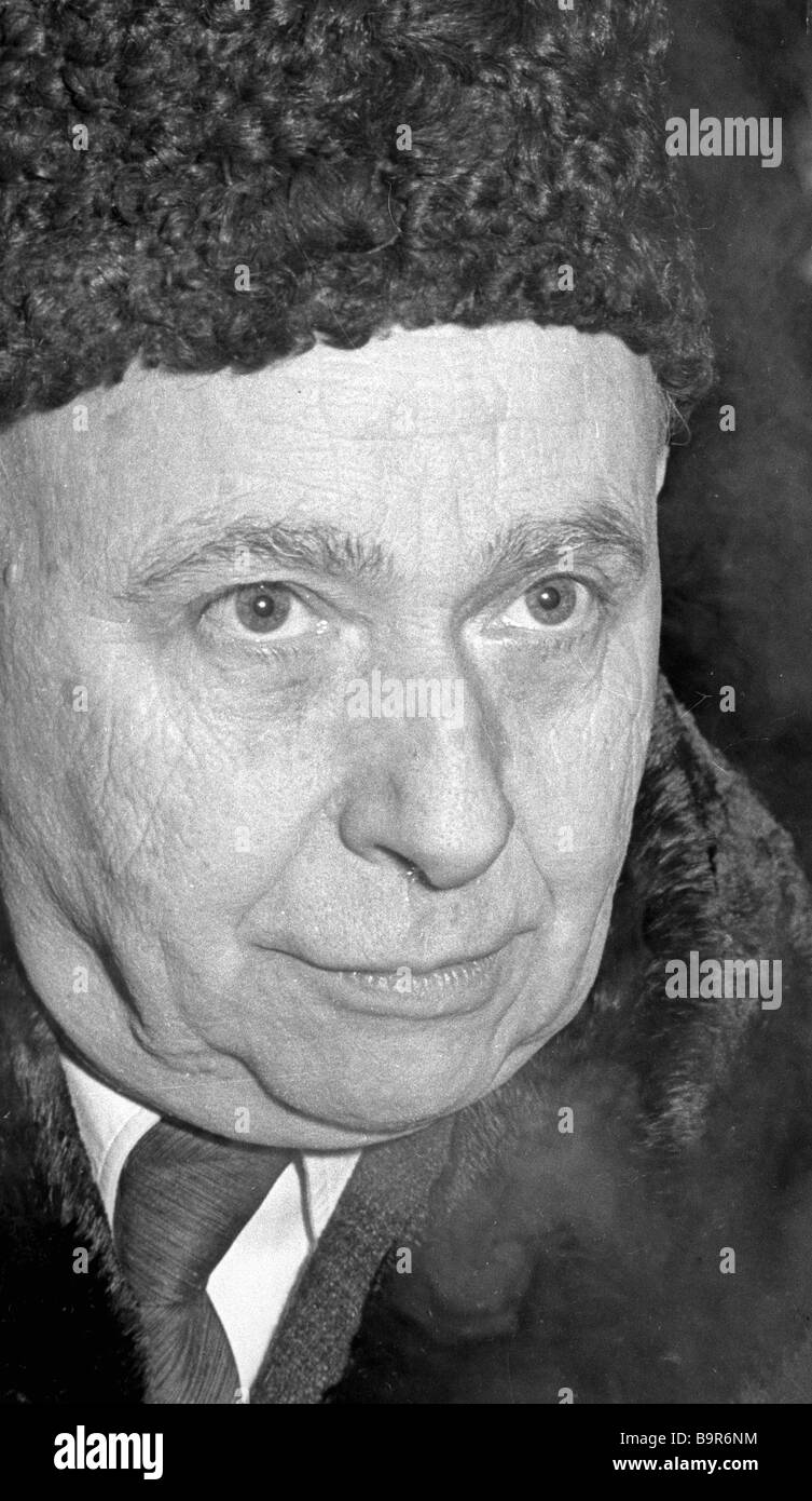 French writer and public figure Louis Aragon - Stock Image