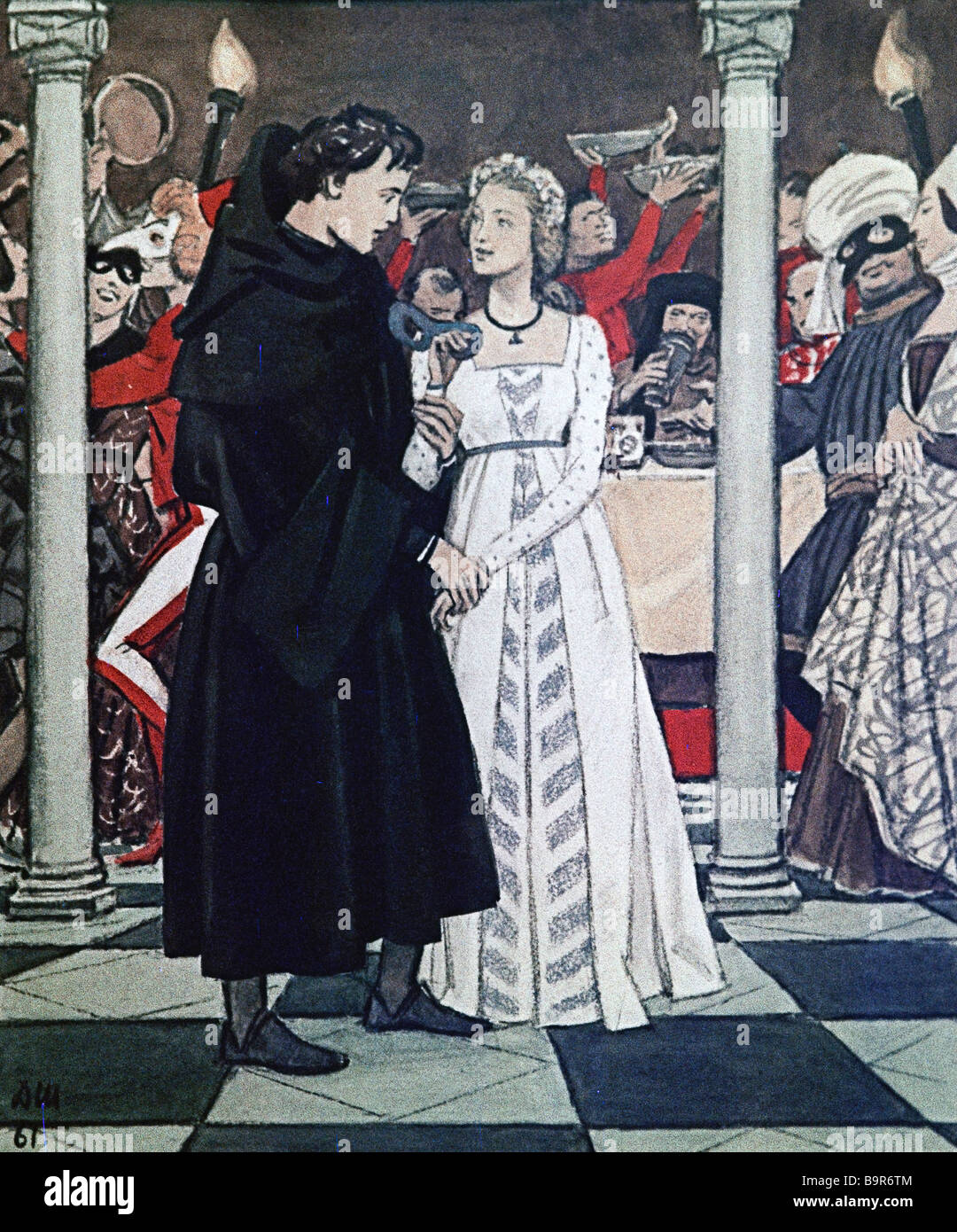 Shmarinov 1907 1999 Capuletti Festival Illustration to Shakespear s tragedy Romeo and Juliet - Stock Image