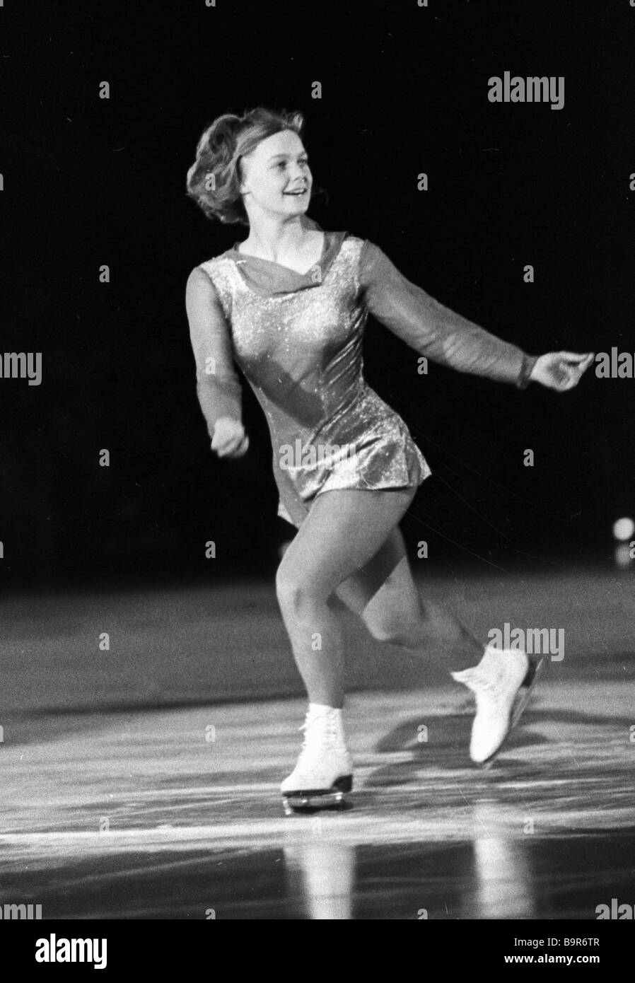 Figure skater Gaby Seifert East Germany s champion in individual events - Stock Image