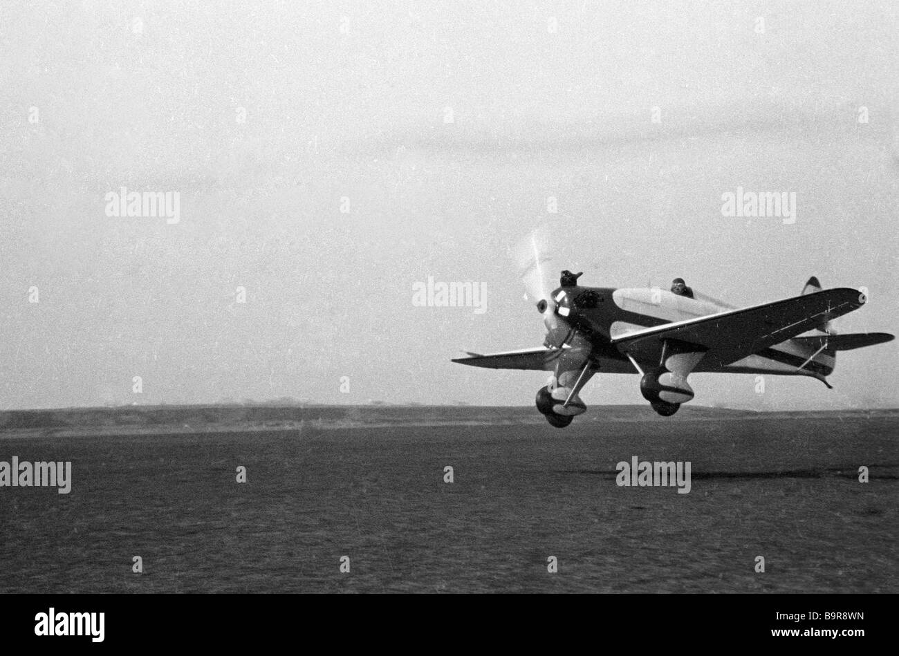 The UT 1 aircraft taking off from the airfield - Stock Image