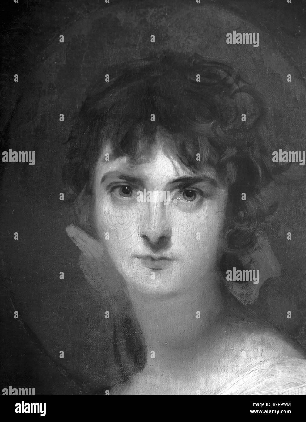Reproduction of portrait of Miss Sally Siddons by Thomas Lawrence Collection of Pushkin State Fine Arts Museum - Stock Image