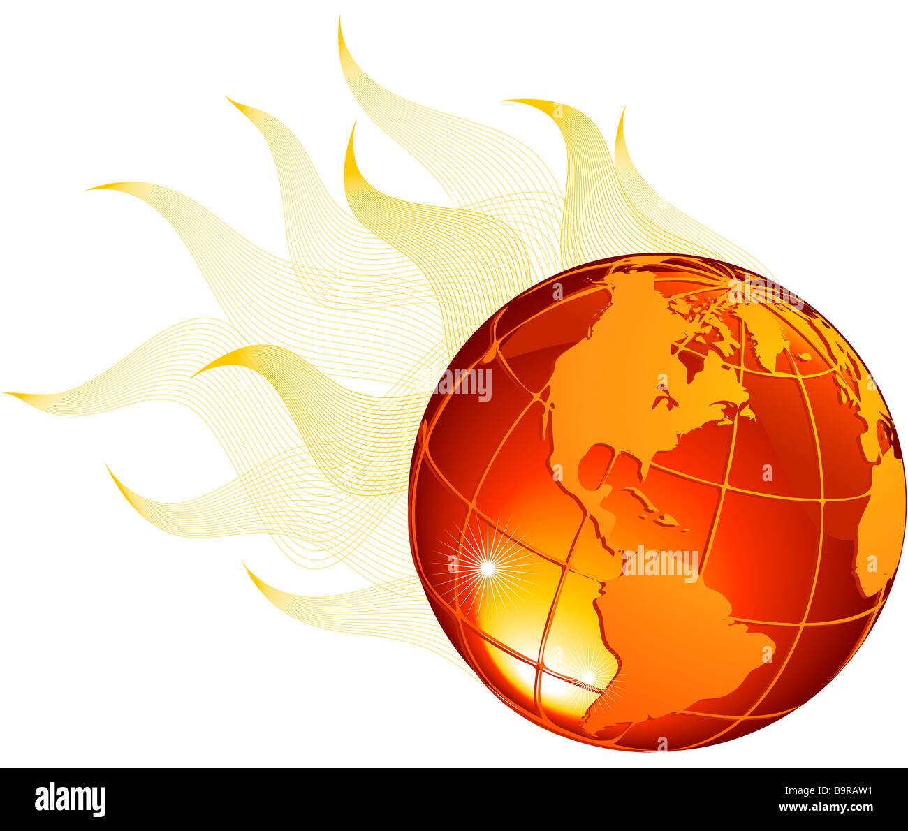 Global warming issues - Stock Image