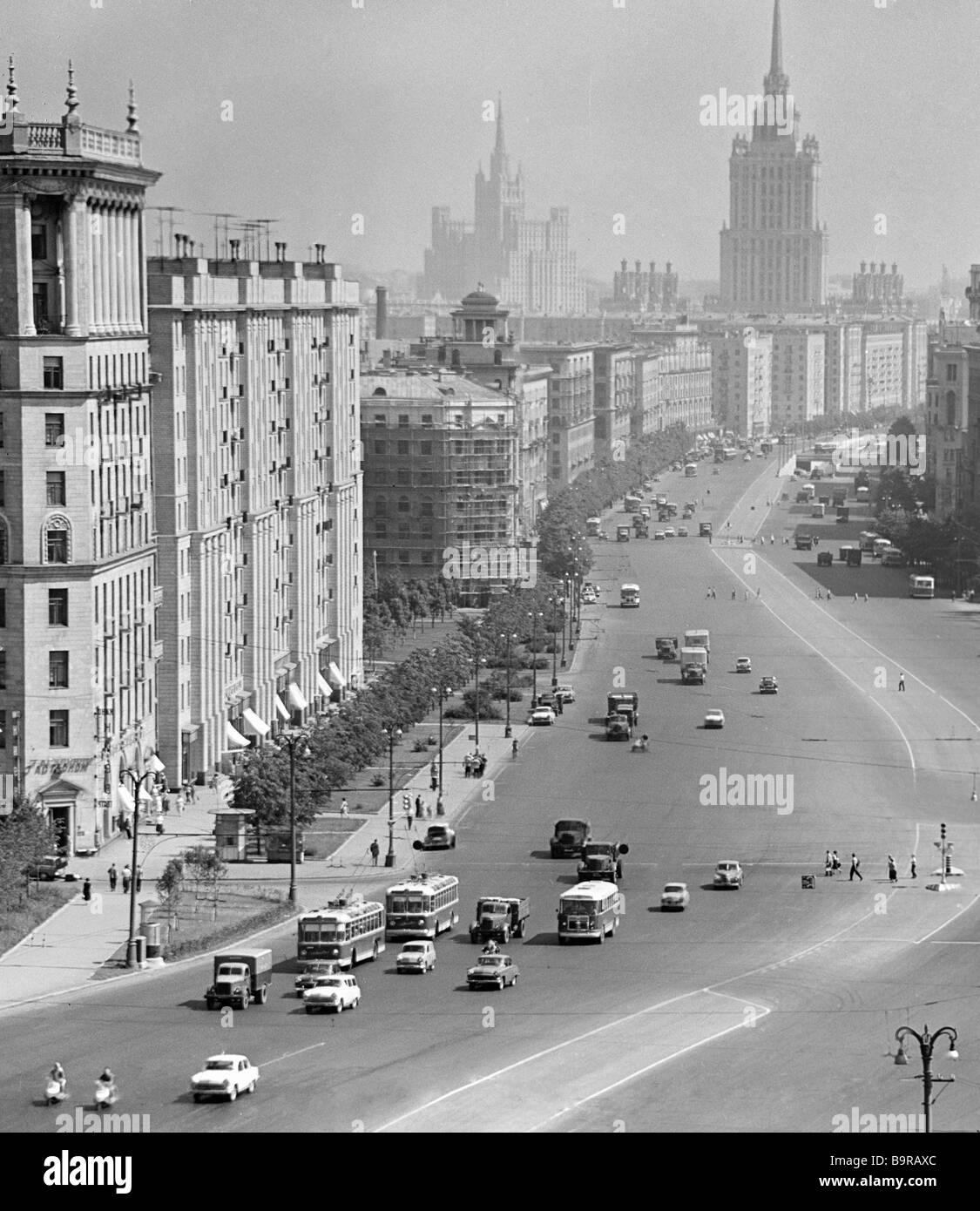 Kutuzov avenue in Moscow - Stock Image