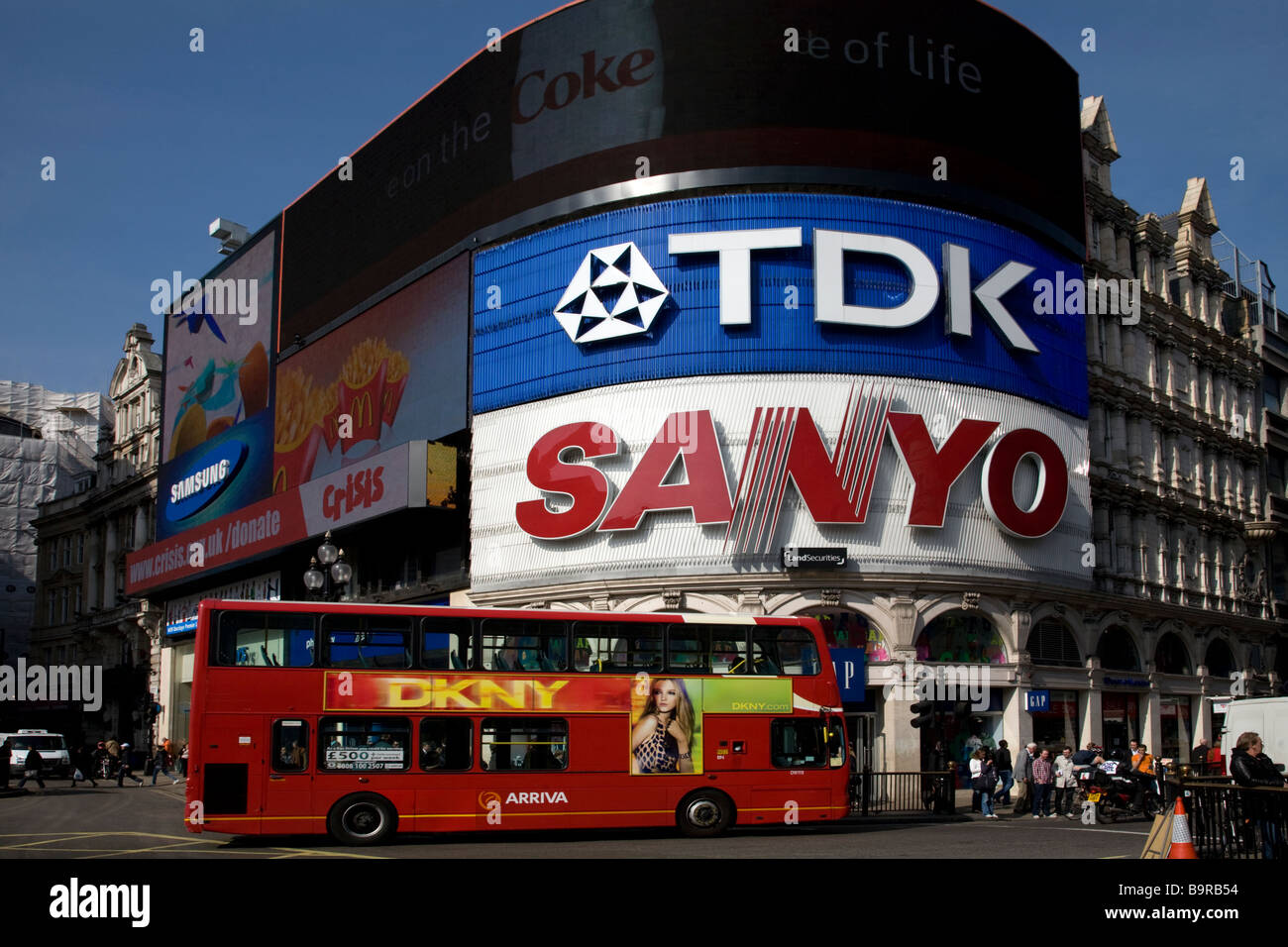 Piccadilly Circus London England - Stock Image