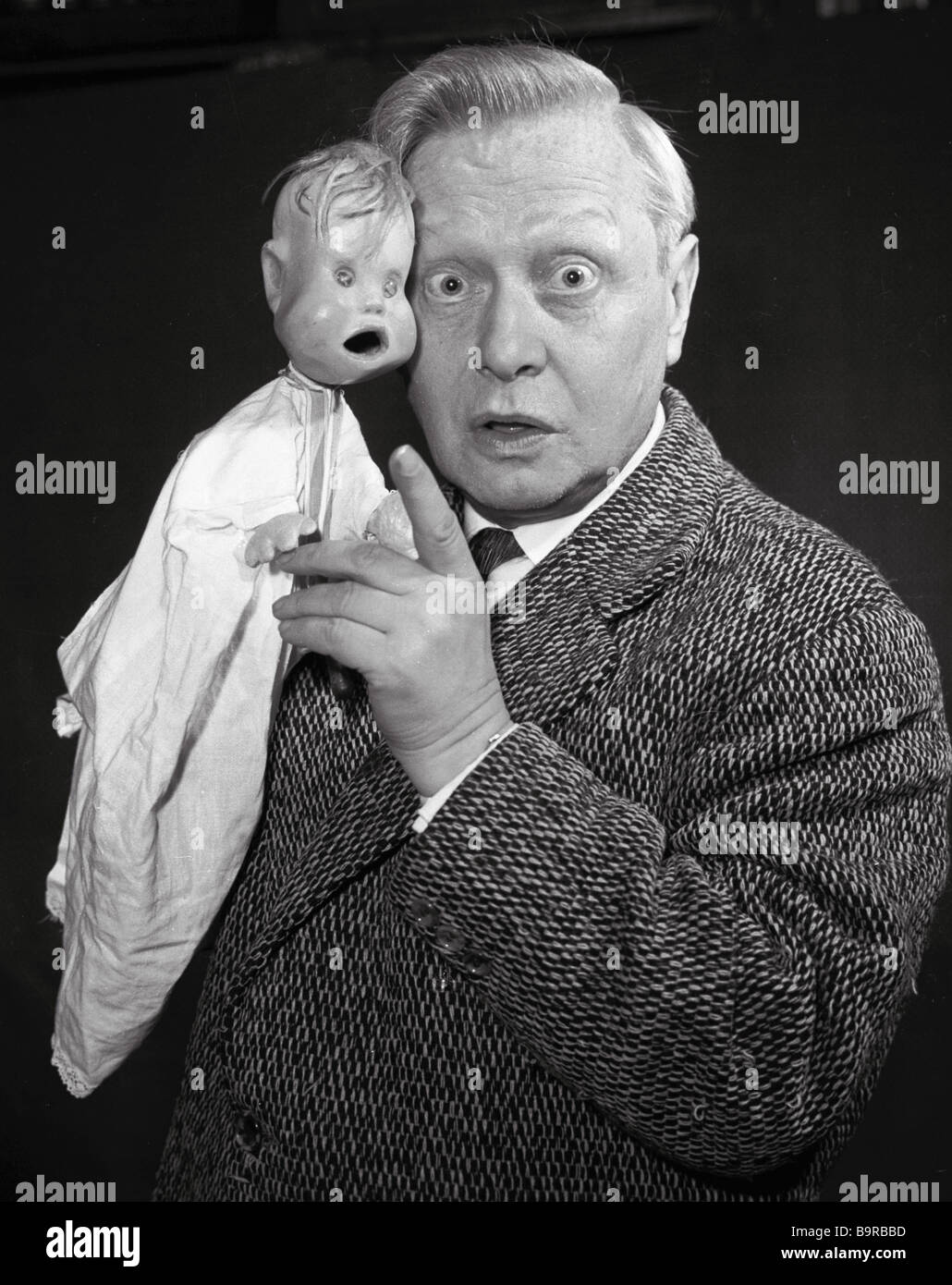 People s artist of the USSR Director of the State Central Puppet theater and President of the International Union - Stock Image