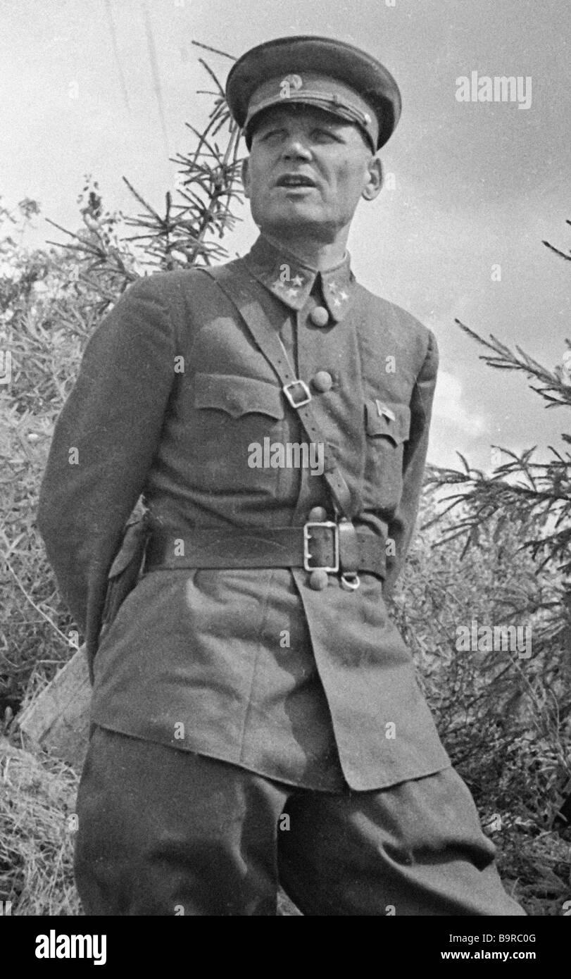 Commander of the Western front lieutenant general Ivan Konev - Stock Image