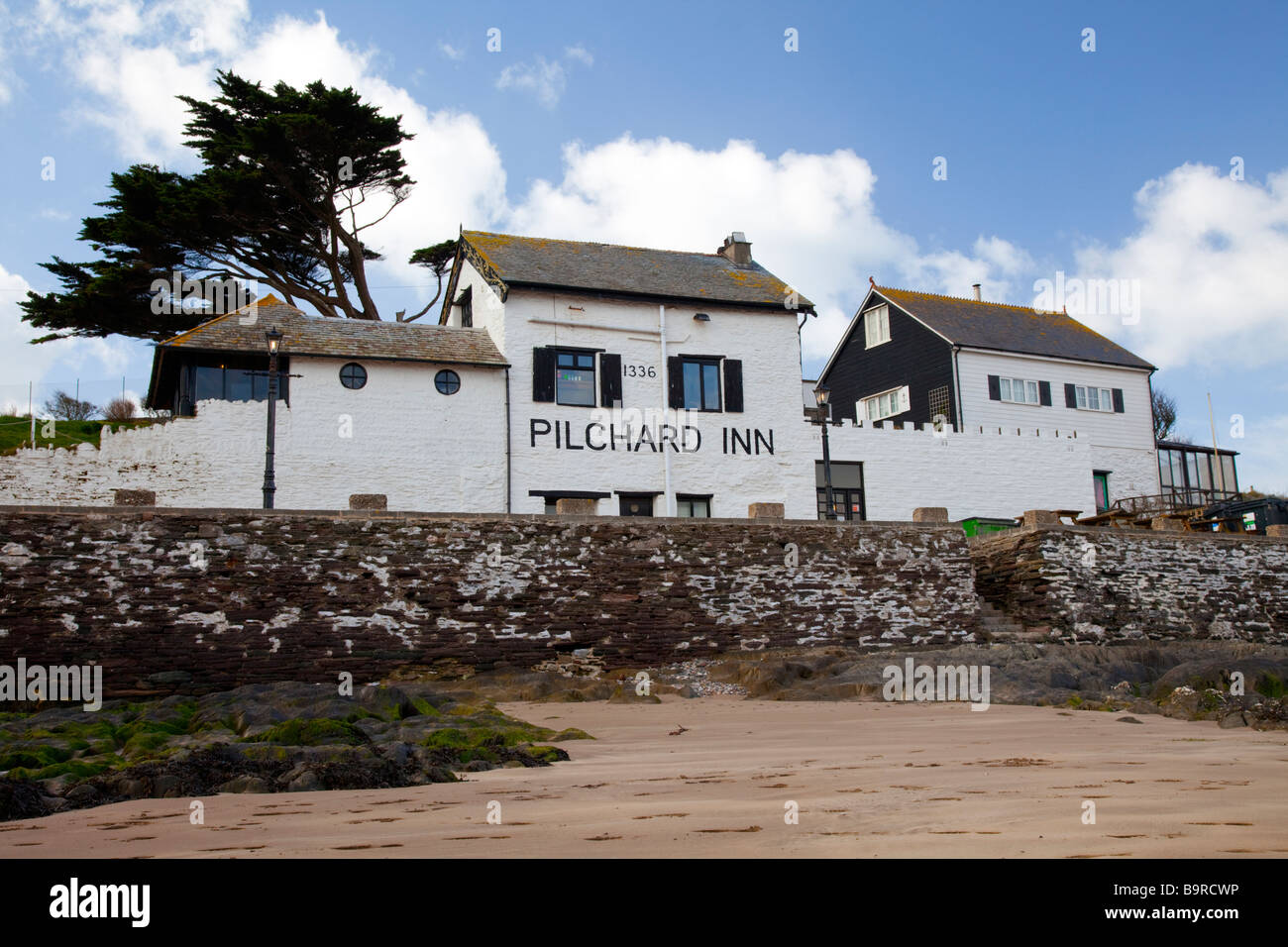 The Pilchard Inn, Burgh Island, Devon - Stock Image