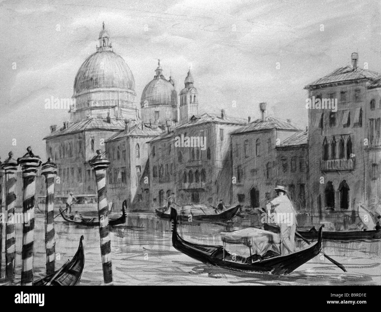 Dmitri Shmarinov The Grand Canal in Venice - Stock Image