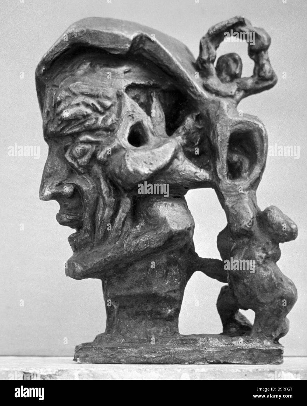 Ernst Neizvestny s statue Dante Stock Photo