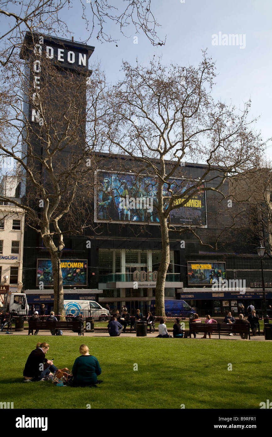 Leicester Square Soho London England - Stock Image