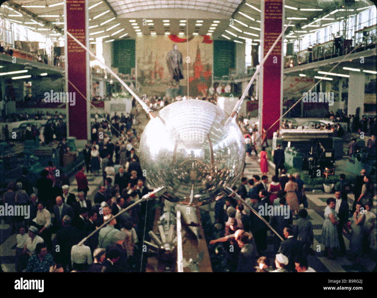 Soviet pavilion at World Expo 1958 in Brussels Still from film Brussels 1958 Stock Photo