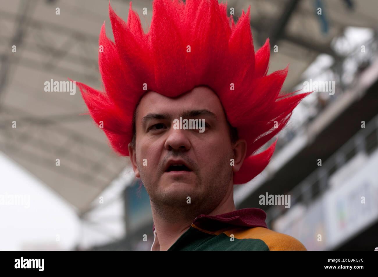 A Reveller at The Hong Kong Rugby Sevens - Stock Image