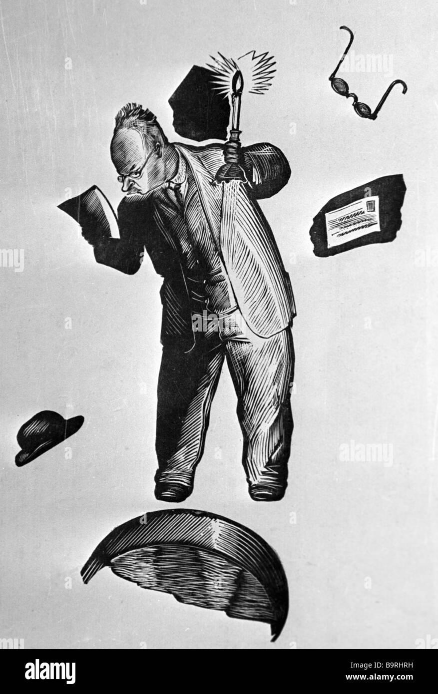 Andrei Goncharov Portrait of actor Maxim Shtraukh 1932 - Stock Image