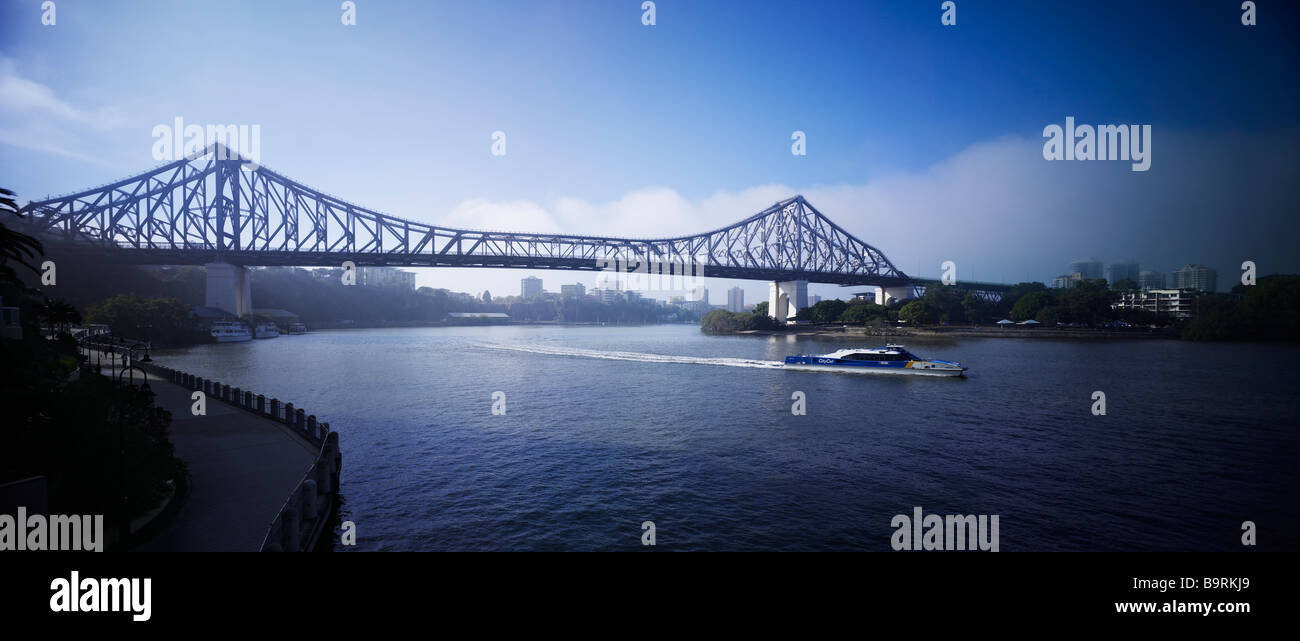 Story Bridge Brisbane australia panorama - Stock Image
