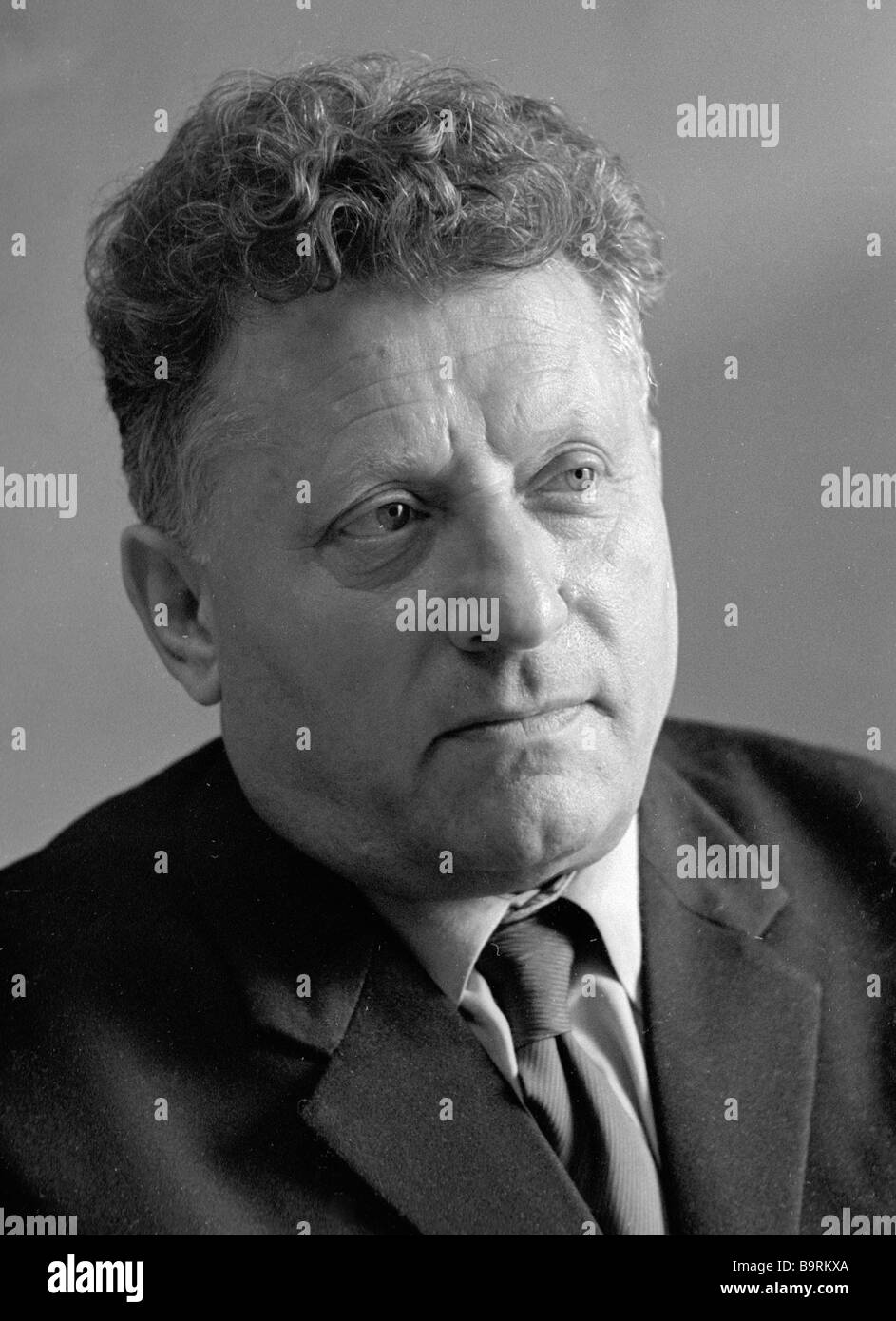 Soviet Jewish writer Natan Lurie the author of the novels The Steppe Is Calling and The Sky and the Land - Stock Image