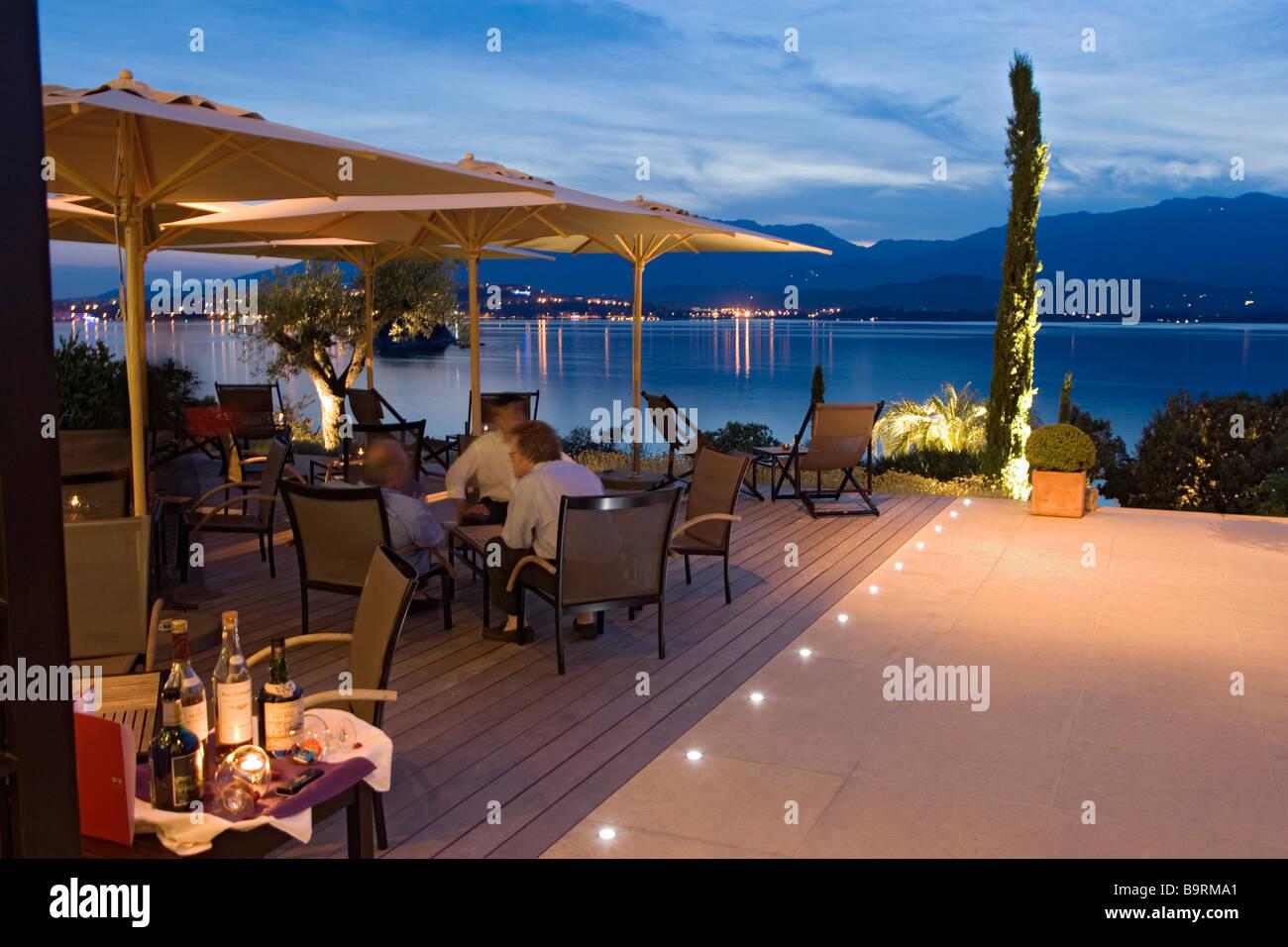 France corse du sud porto vecchio casadelmar hotel restaurant stock photo 23263129 alamy - Restaurant corse du sud ...