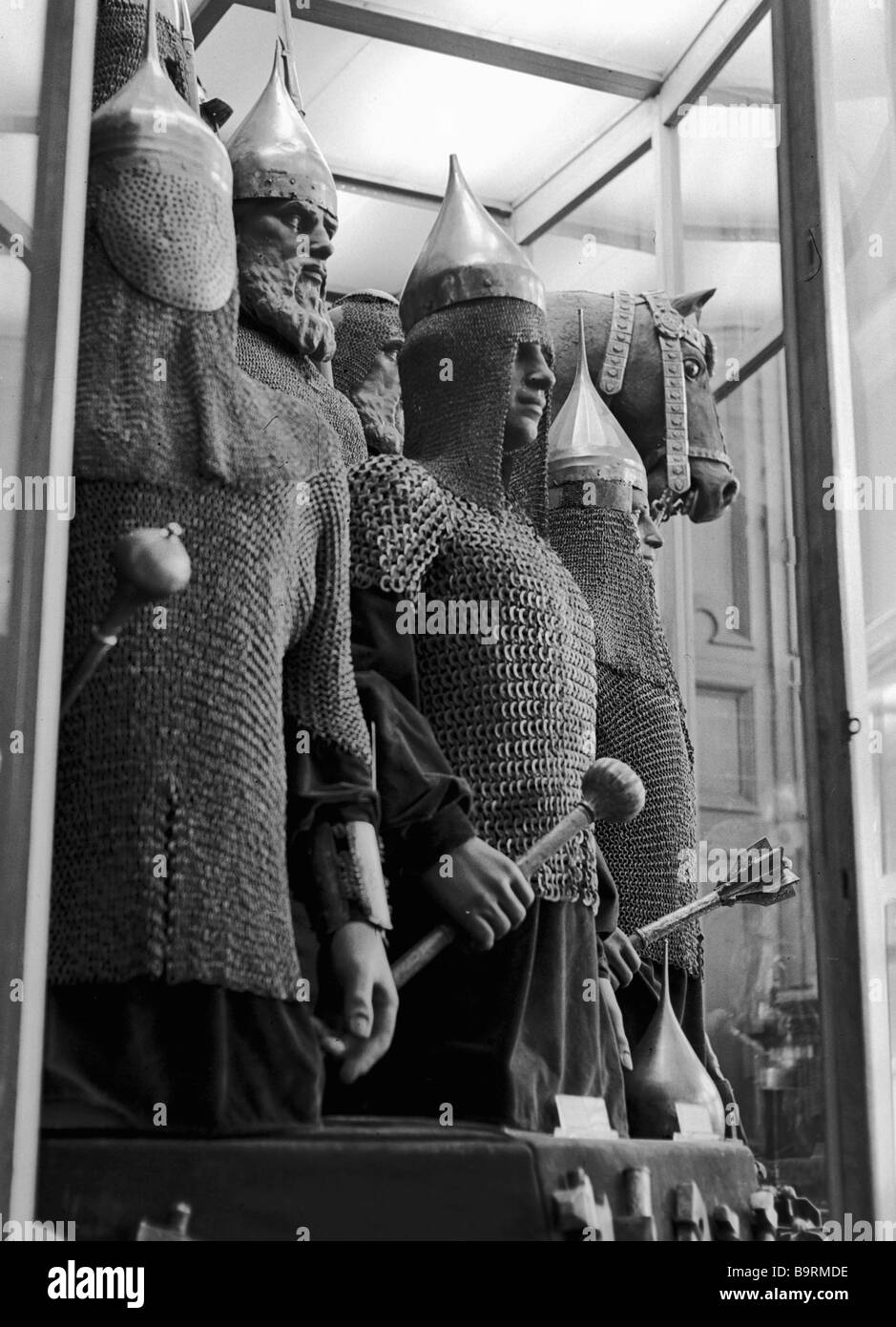Russian made chain mail and armor of members of a prince s armed force From the collection of the Kremlin s Armory - Stock Image