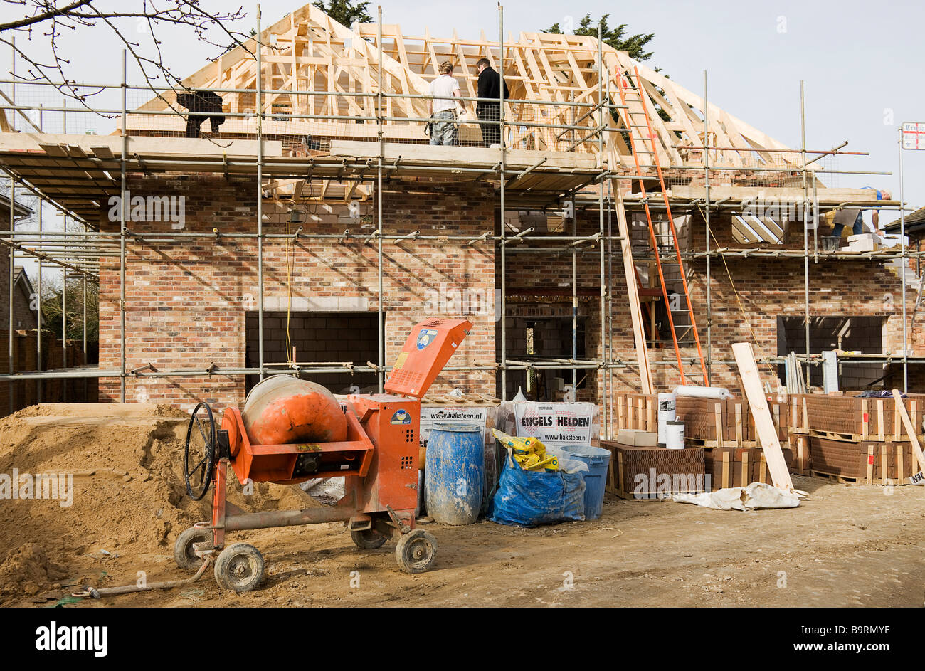 Building site of a new house in the process of having the for House building website