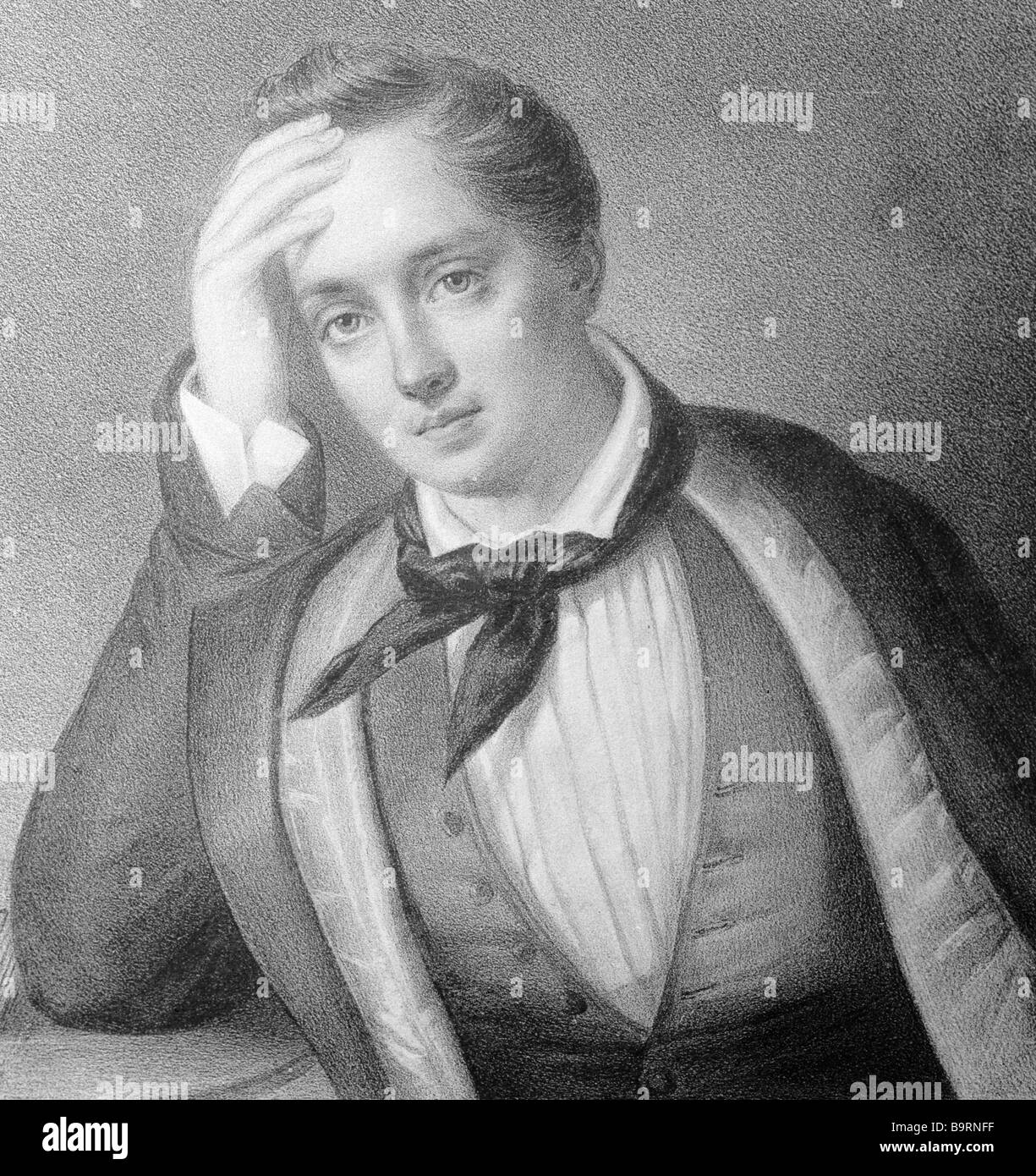 Russian poet Yevgeny Baratynsky 1800 1844 - Stock Image