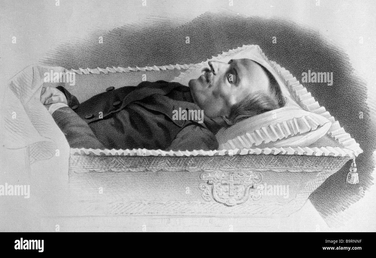 Nikolai Gogol on deathbed - Stock Image