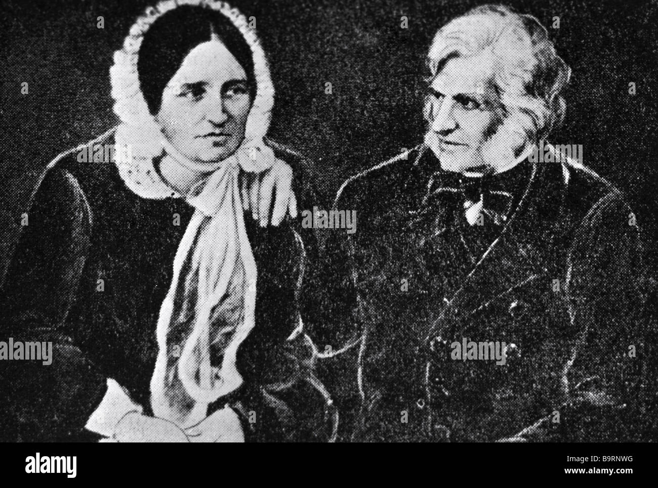 Botanist Christian Steven with his wife - Stock Image