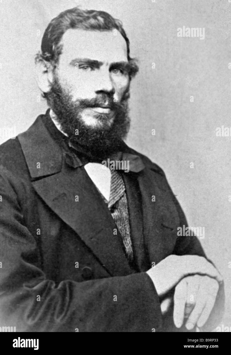Russian writer Leo Tolstoy 1828 1910 Stock Photo