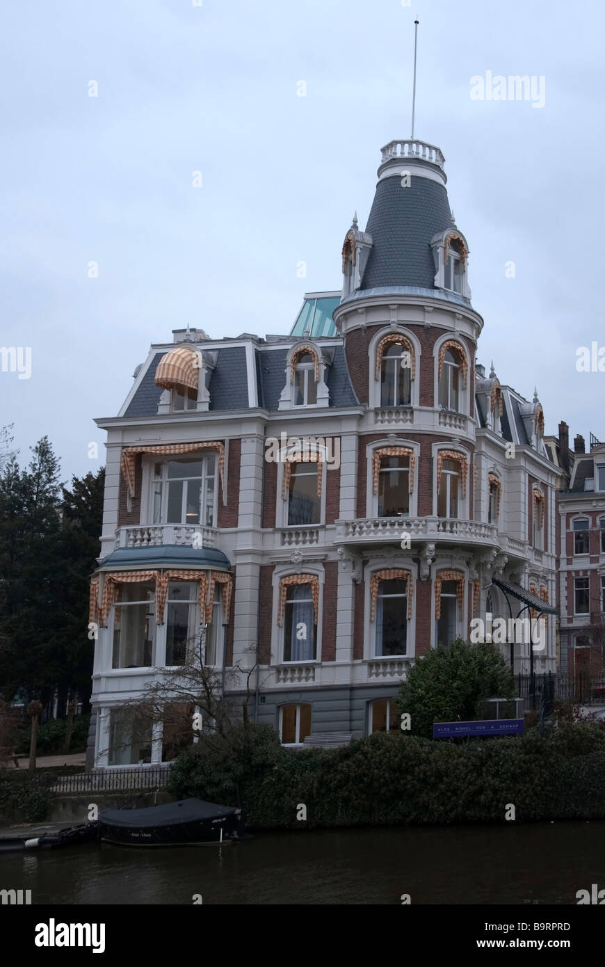 Typically Ornate Former Merchants House Amsterdam - Stock Image
