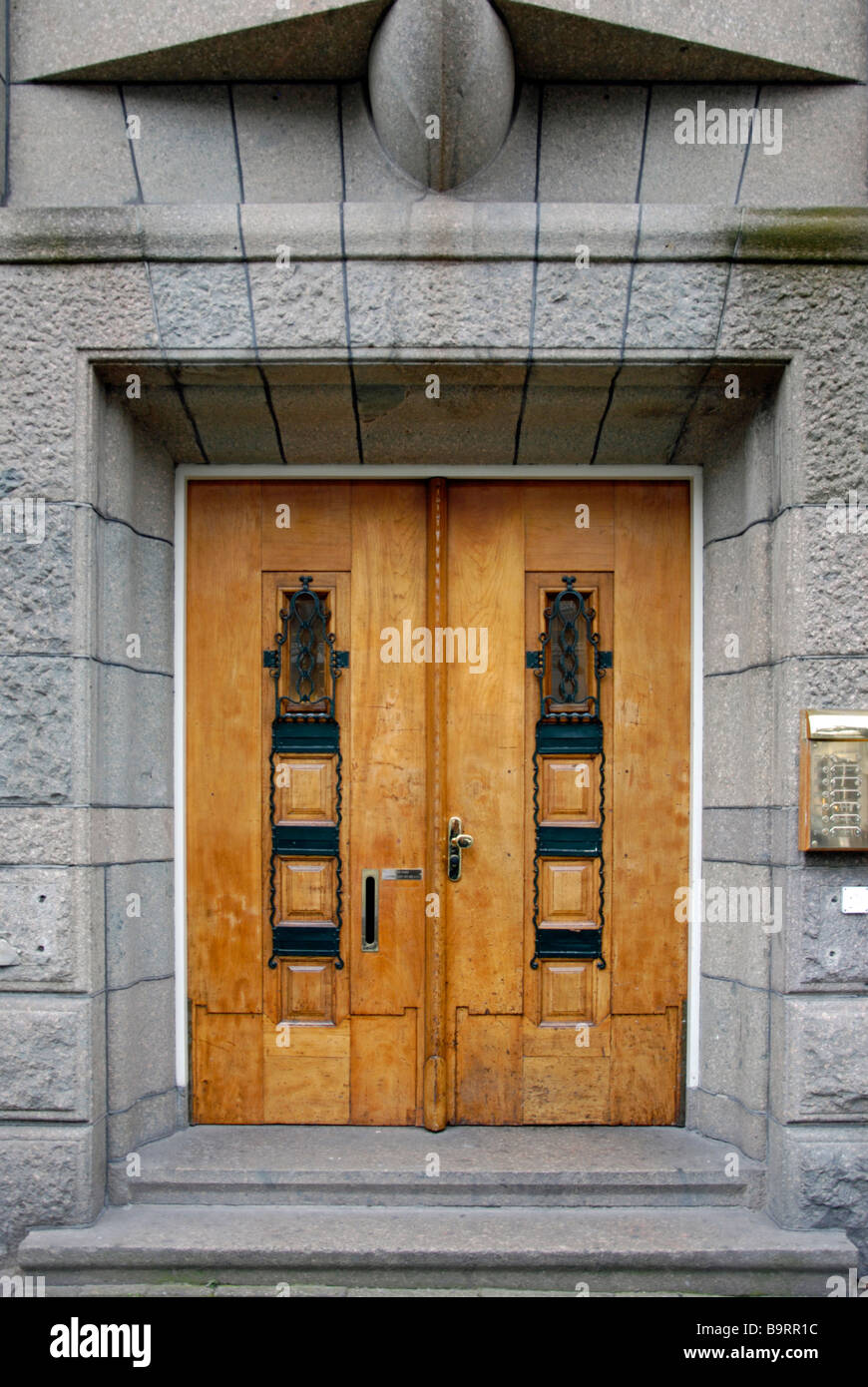 Characteristic Dutch Carved Wooden Doors Amsterdam - Stock Image