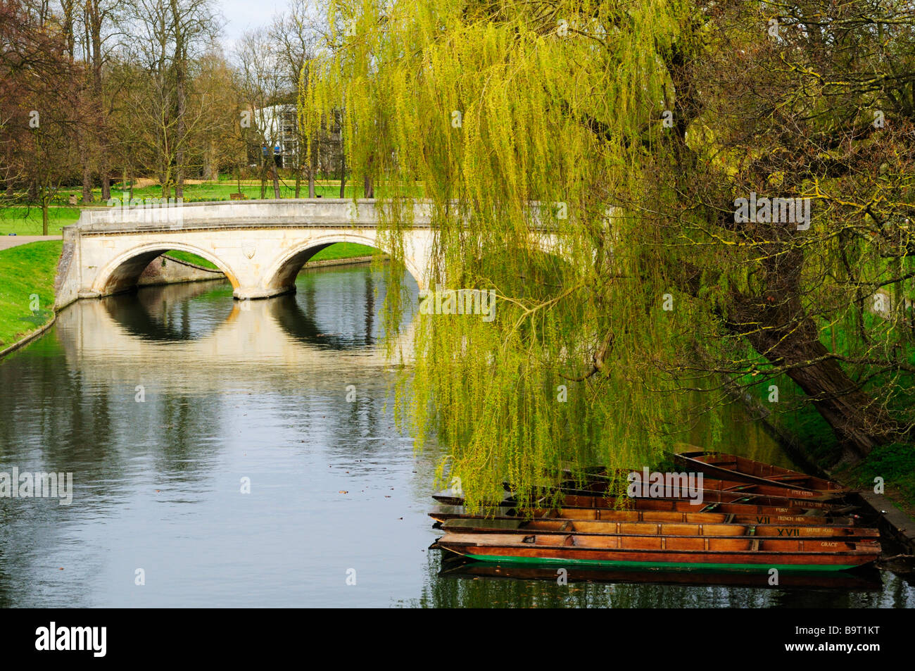 Trinity Bridge and the River Cam, Cambridge England UK - Stock Image