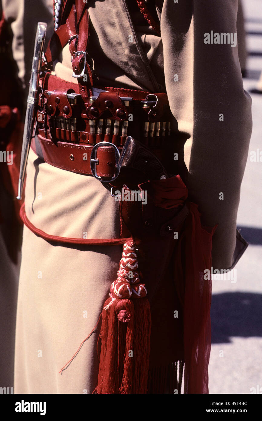 Detail of the dress uniform of the Royal Jordanian Desert Police - Stock Image
