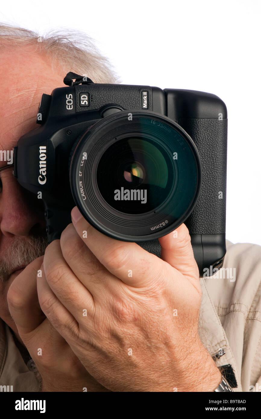 Photography Canon 5d mk2 digital slr camera - Stock Image