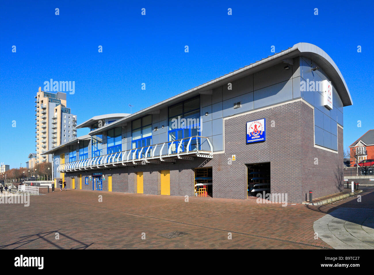 Watersports Centre, Salford Quays, Manchester, Lancashire, England, UK. - Stock Image