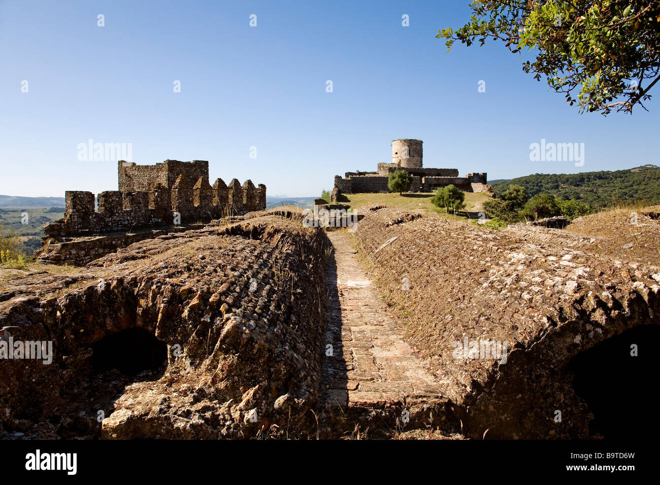 Arab Cistern Castle of Jimena de la Frontera Cádiz Andalusia Spain Stock Photo