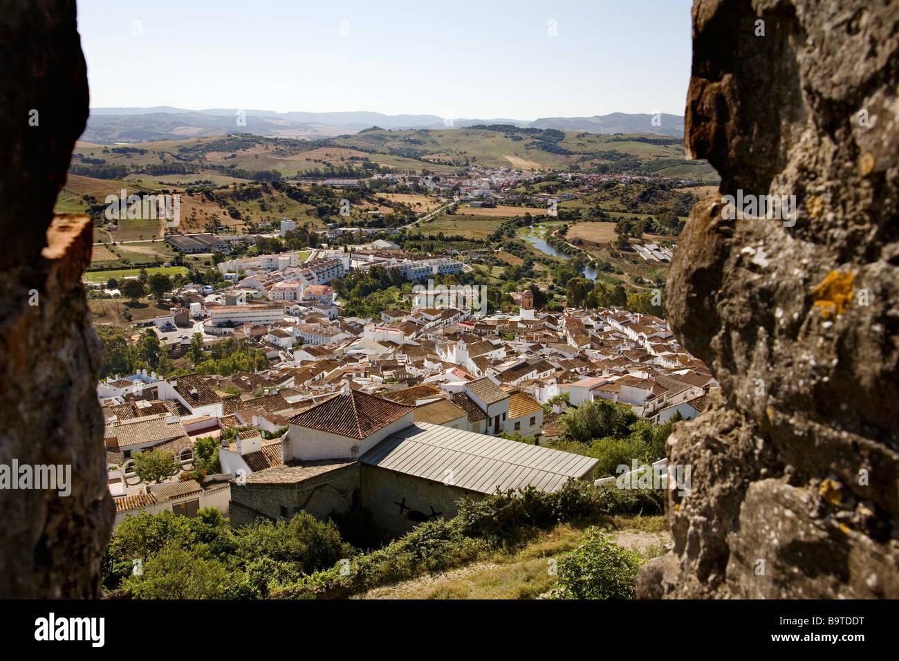 View from the Castle of Jimena de la Frontera Cádiz Andalusia Spain Stock Photo