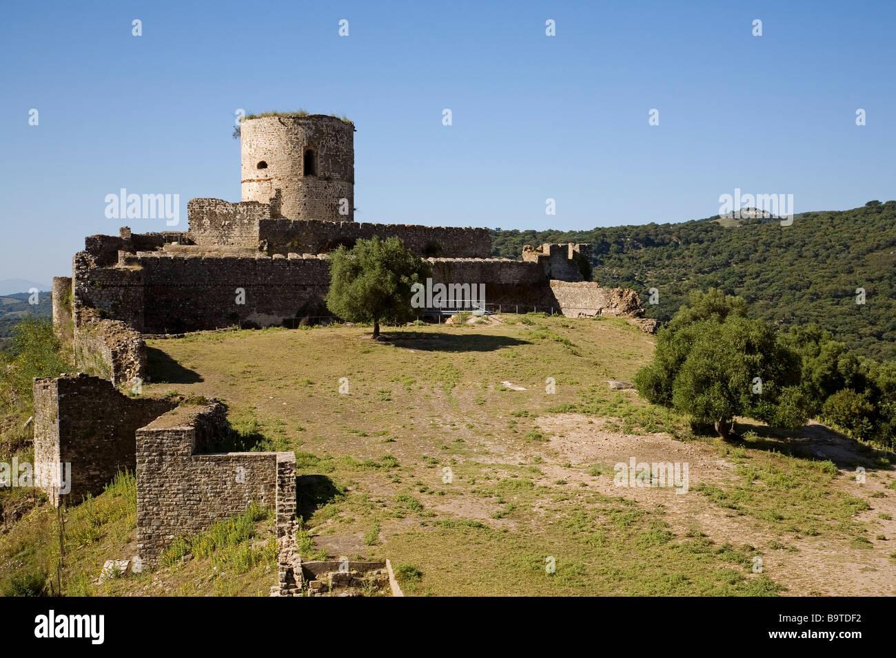 Homenaje Tower Castle of Jimena de la Frontera Cádiz Andalusia Spain Stock Photo