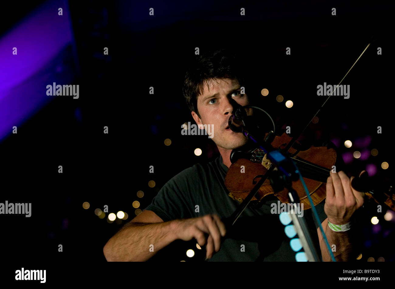 Seth Lakeman performing at the Moseley Folk Festival in Birmingham in 2008 - Stock Image