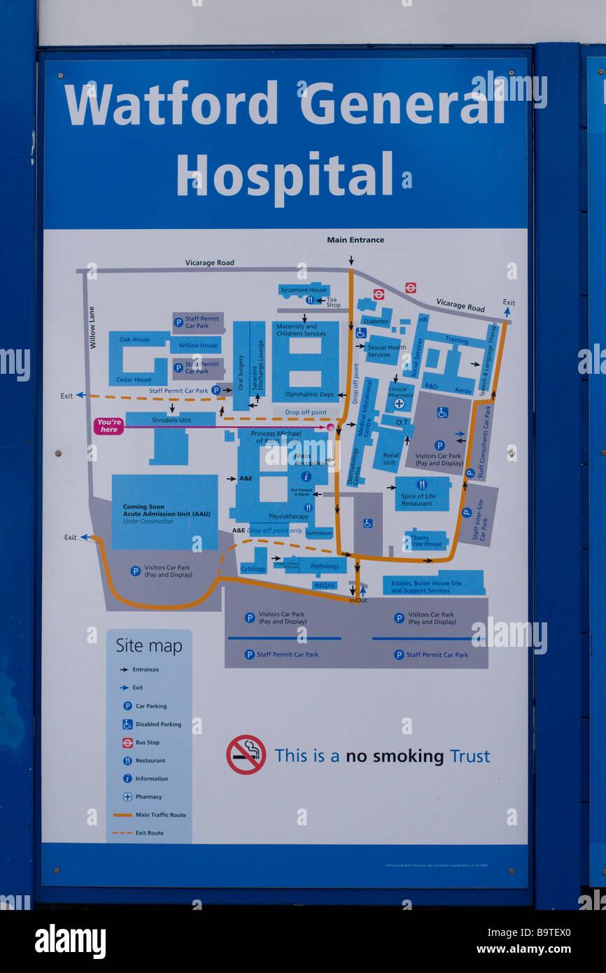 Watford General Hospital Map Watford General Hospital sign Stock Photo: 23280824   Alamy Watford General Hospital Map