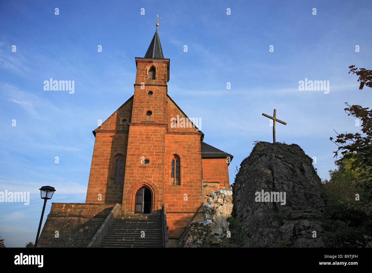 The pilgrimchurch of Gügel Guegel near Scheßlitz Schesslitz Upper Frankonia Bavaria Germany - Stock Image