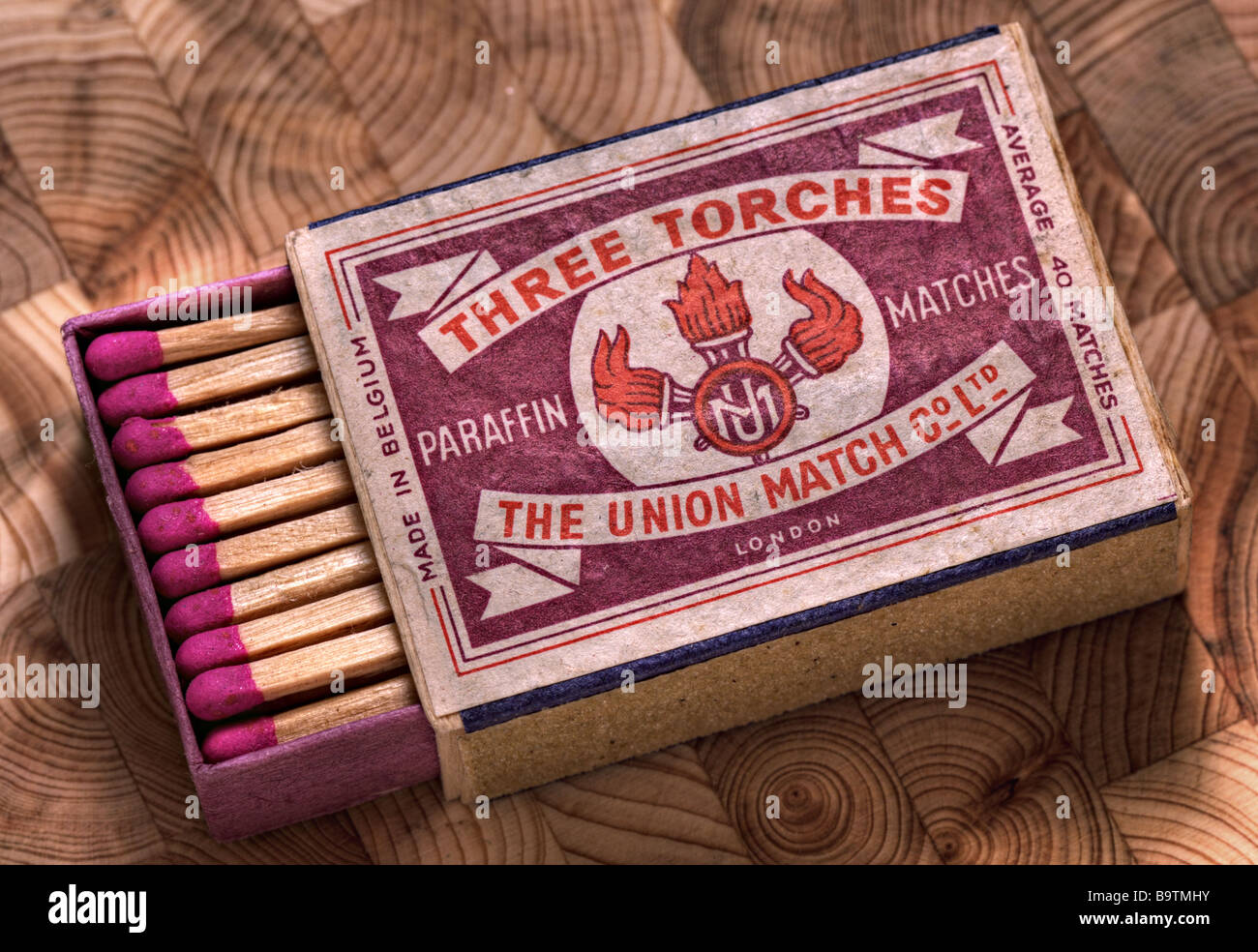 Vintage matchbox from 1960's - Stock Image