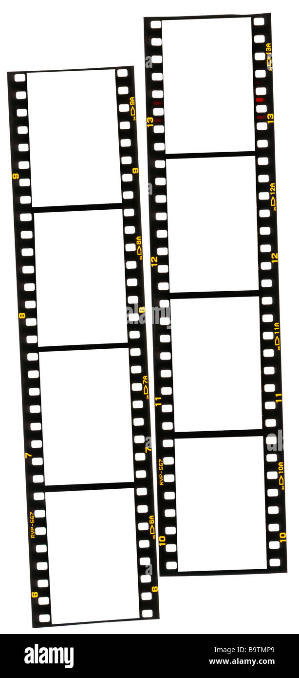 35mm film stirps - Stock Image