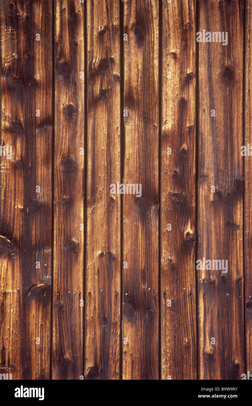 CLOSE UP OF OLD WEATHERED BARN WOOD BOARDS - Stock Image